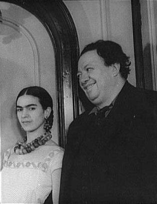 Frida z mężem Diego Riverą, 1932 rok