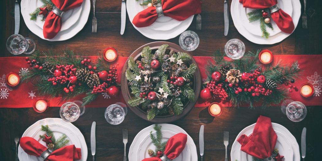 elegancki stół wigilijny