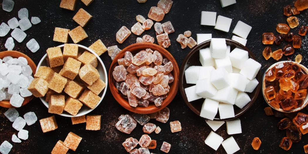 różne rodzaje cukru