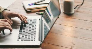 freelancer pracujący na laptopie