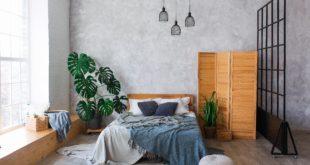 przytulna sypialnia w stylu loftowym